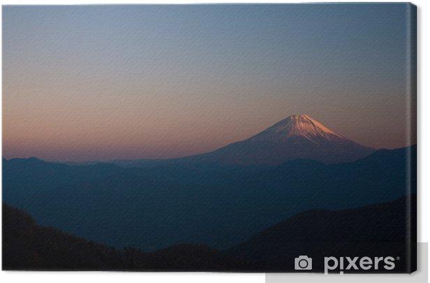 櫛形山からの富士山 Canvas Print - Mountains