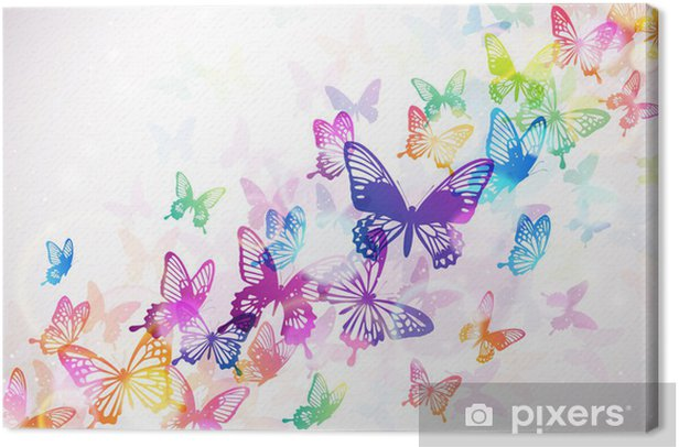 蝶々 Canvas Print -