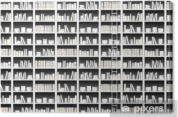 本 Canvas Print - Library