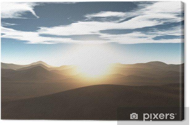 砂漠 Canvas Print - Deserts
