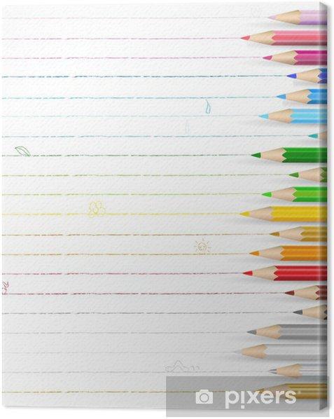 色鉛筆 落書き メッセージ Canvas Print - Sales