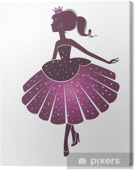 Девочка -принцесса Canvas Print - Fashion