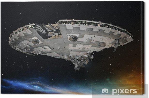宇宙船 Canvas Print - Themes