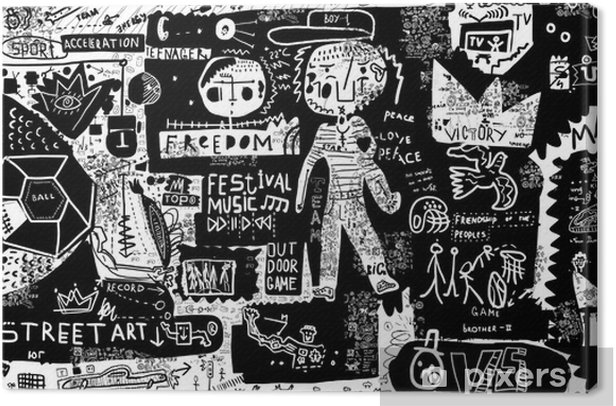 Граффити Canvas Print - People