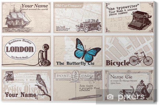 12 Cartes De Visites Rtro Canvas Print