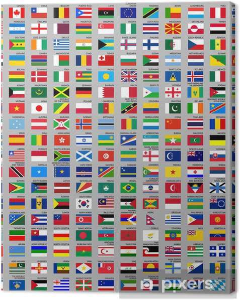 216 Flags of the world Canvas Print - Signs and Symbols