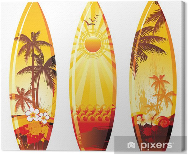 3 surf boards Canvas Print - Holidays