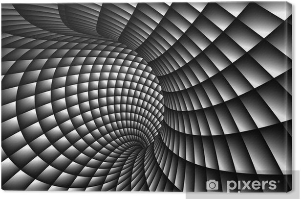 3D Abstract Spiral Canvas Print - Themes