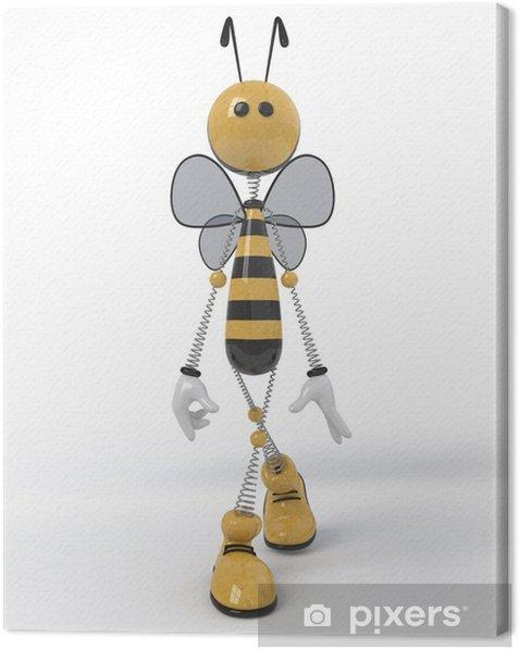 3d bee. Canvas Print - Signs and Symbols