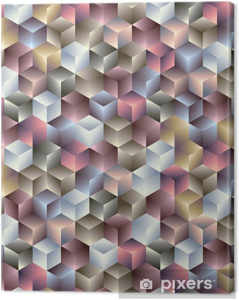3d cubes geometric seamless pattern. Canvas Print - Themes