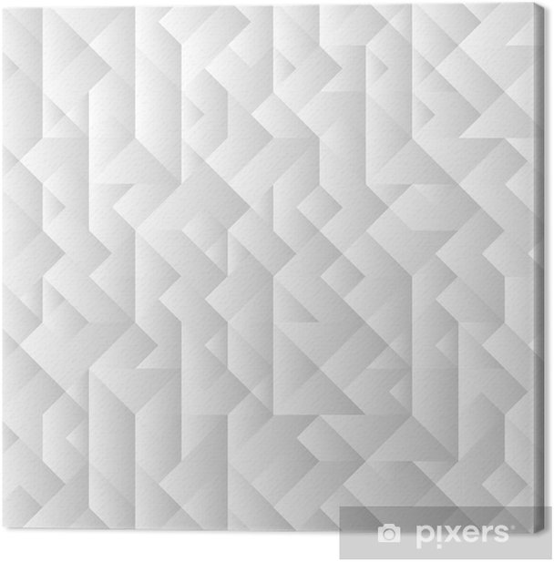 3d grey geometric background Canvas Print - Geometry