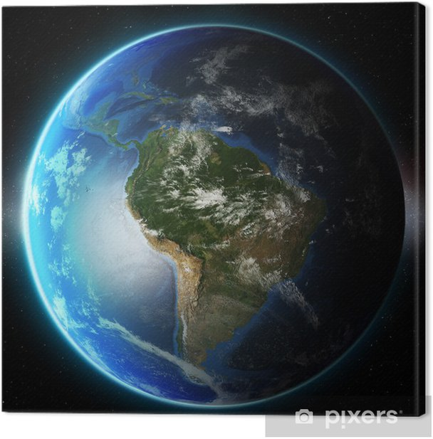 3D Planet Earth. Elements of this image furnished by NASA. Other Canvas Print - Earth