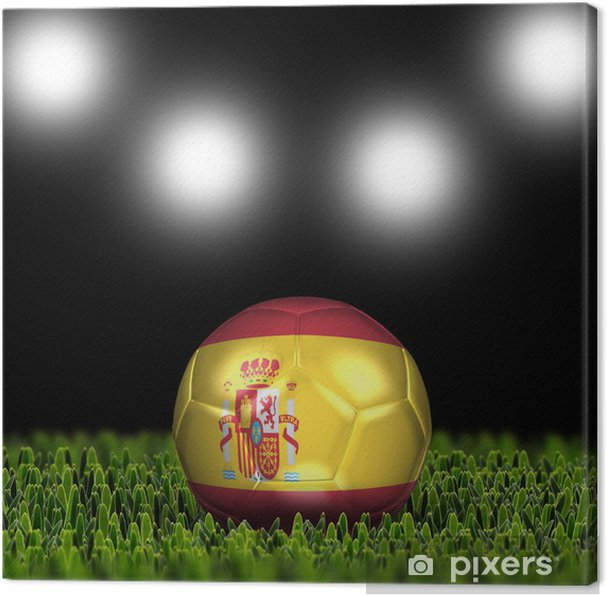 8779fbf75 3D soccer balls with national flag. Country Spain Canvas Print - Team Sports