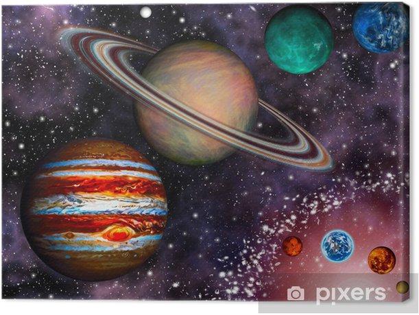 3D Solar System Wallpaper Canvas Print
