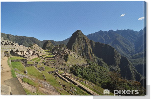 A beautiful day at Machu Picchu, Peru Canvas Print - Themes
