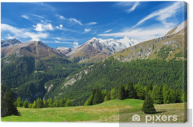 a beautiful view of the austrian alps Canvas Print - Themes