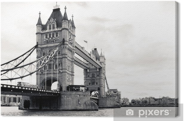 A Black And White View Of The Famous Tower Bridge Canvas Print