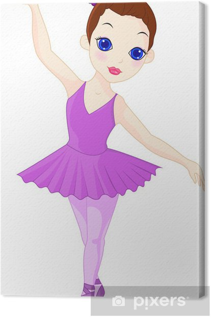 A little ballerina Canvas Print - Wall decals