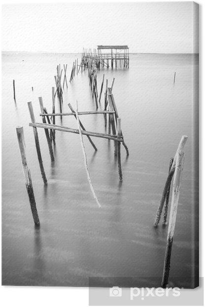 A peaceful ancient pier Canvas Print - Landscapes