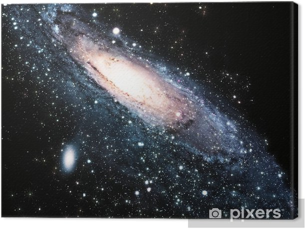 a spiral galaxy in the universe Canvas Print - Universe