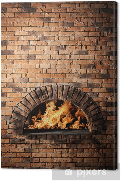 A traditional oven for cooking and baking pizza. Canvas Print - Destinations