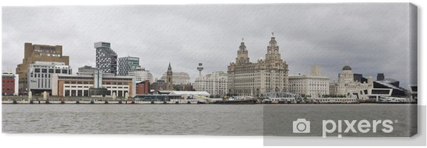 A View of Liverpool and the Mersey River Canvas Print - Europe