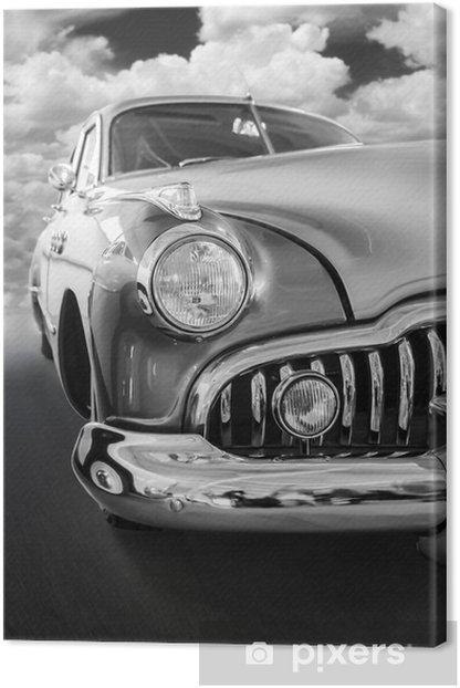 A vintage car Canvas Print - On the Road