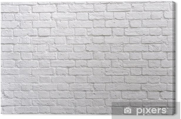 A white brick wall Canvas Print - Themes