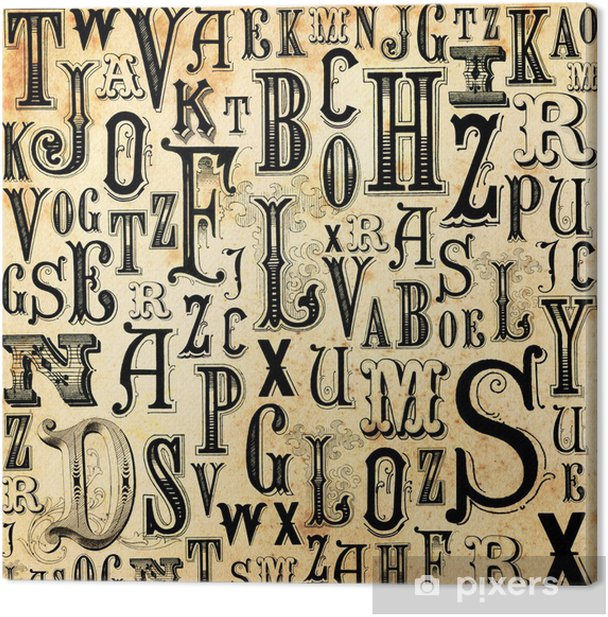 ABC vintage background Canvas Print - Themes