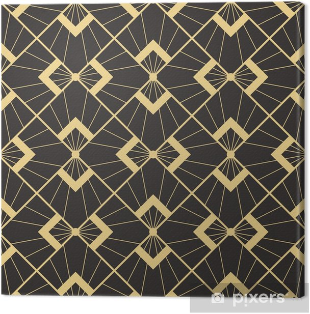 Abstract art deco Canvas Print - Graphic Resources