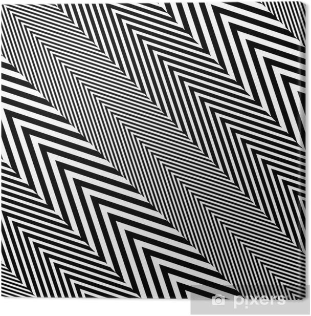 Abstract Black White Herringbone Fabric Style Vector Seamless Canvas Print - Business Concepts
