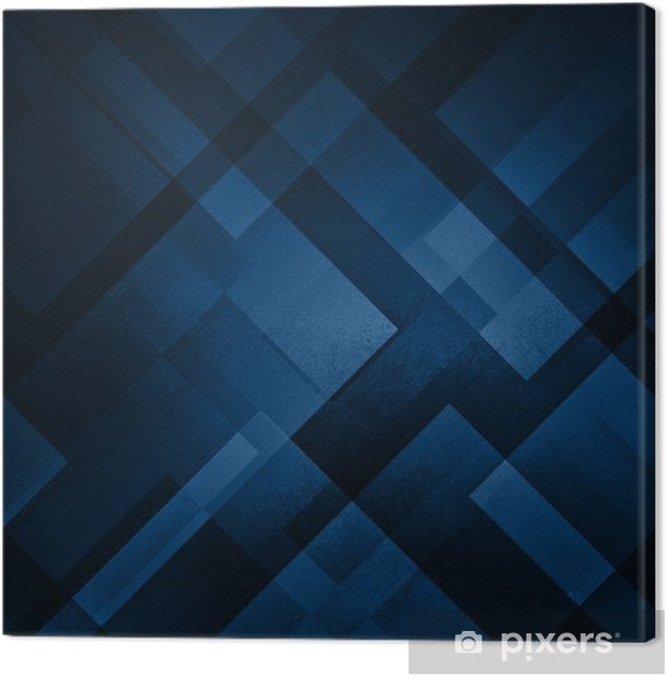Abstract Blue Background In Dark Navy Colors With Layers Of White Diamond And Triangle Shapes Transpa Design Canvas Print