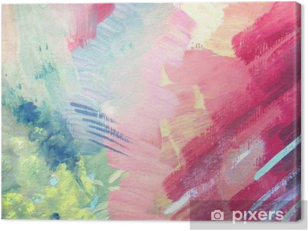 Abstract brush painting background. Children's gouache drawing Canvas Print - Graphic Resources