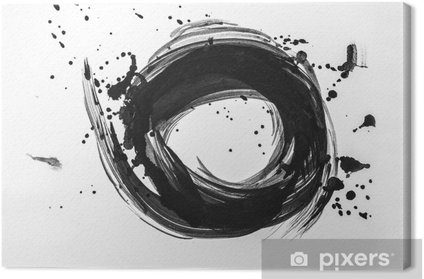 Abstract brush strokes and splashes of paint on white paper. Watercolor texture for creative wallpaper or design art work, black and white colors.. Canvas Print - Hobbies and Leisure