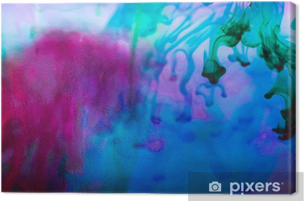 Abstract composition with ink and small bubbles. Beautiful background, texture and colors Canvas Print - Graphic Resources
