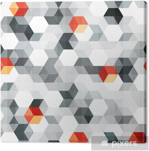 abstract cubes seamless pattern with grunge effect Canvas Print - Styles