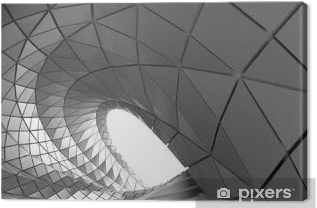 Abstract curve of tunnel Canvas Print - Graphic Resources