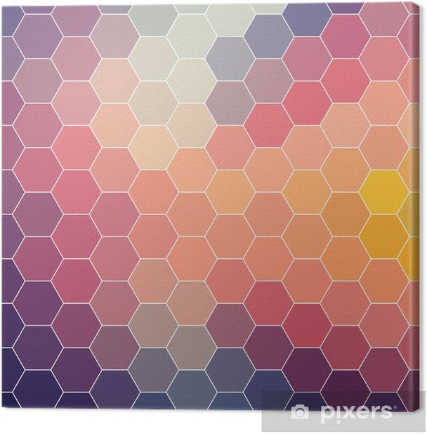 Abstract geometric colorful background, pattern design, vector Canvas Print - Backgrounds