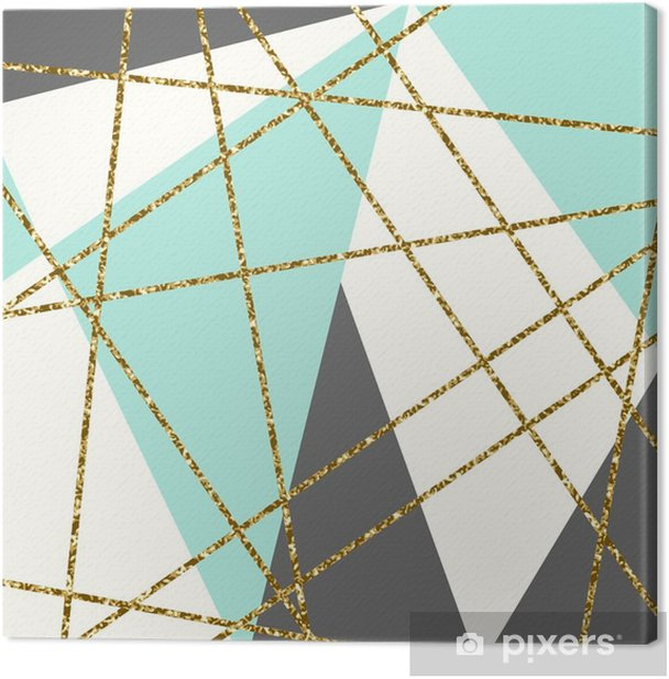 Abstract Geometric Composition Canvas Print - Graphic Resources