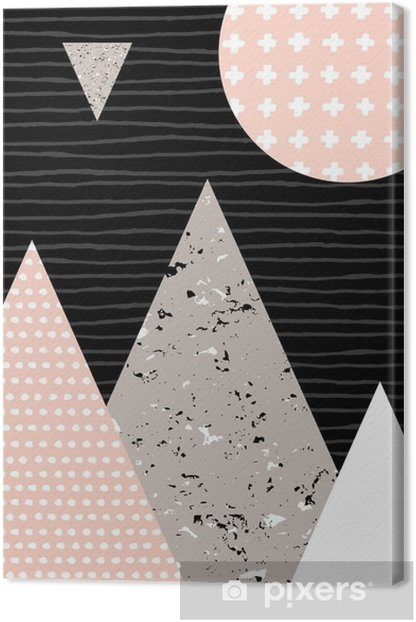Abstract Geometric Landscape Canvas Print - Graphic Resources