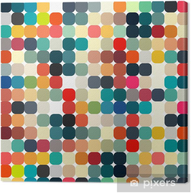 Abstract geometric retro pattern seamless for your design Canvas Print - Styles