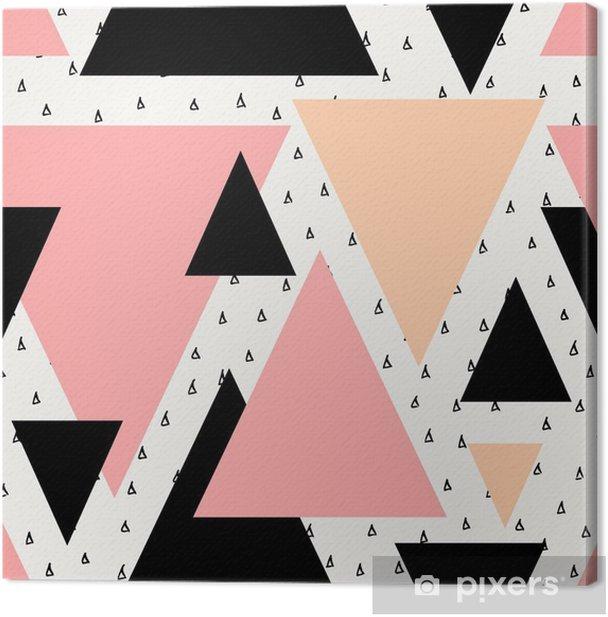 Abstract Geometric Seamless Pattern Canvas Print -