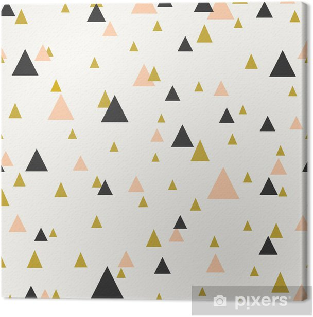 Abstract Geometric Seamless Pattern Canvas Print - Themes