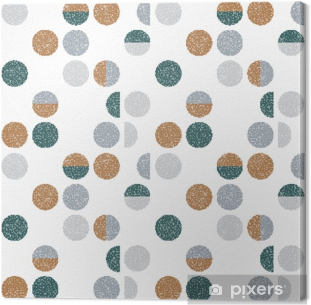 Abstract geometric wallpaper with semi circles and circles. Seamless pattern in scandinavian style. Vector background. Canvas Print - Graphic Resources
