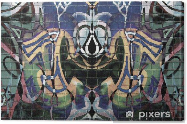 Abstract Graffiti Canvas Print