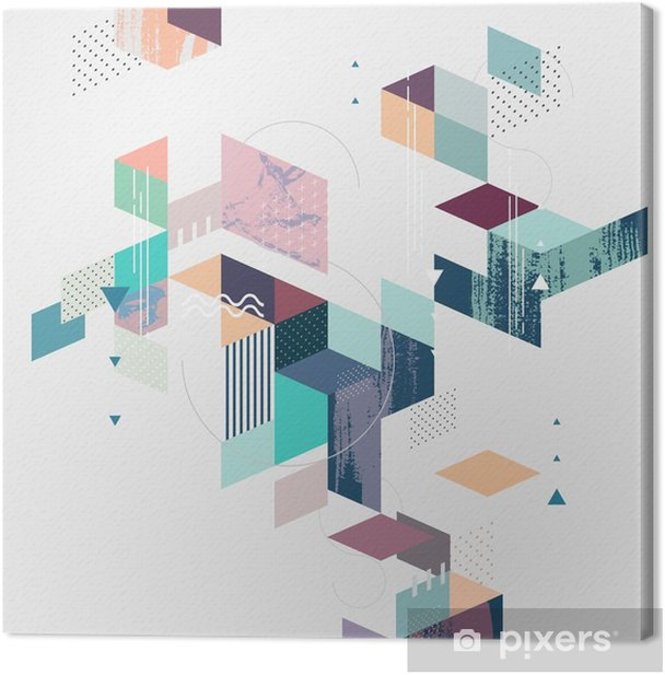 Abstract modern geometric background Canvas Print - Graphic Resources
