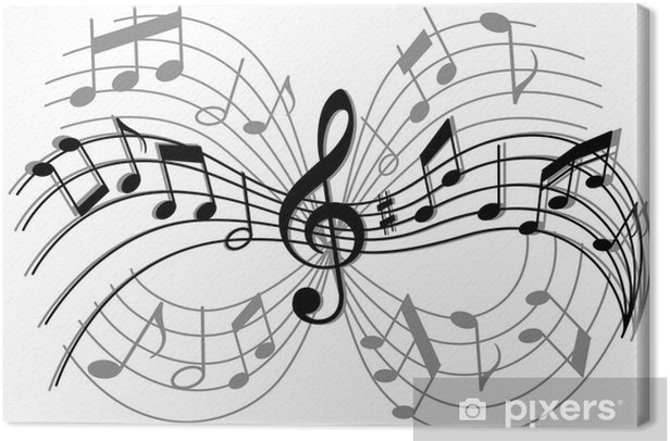 Abstract musical composition Canvas Print - Entertainment