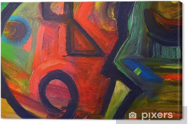Abstract oil painting Canvas Print - Art and Creation