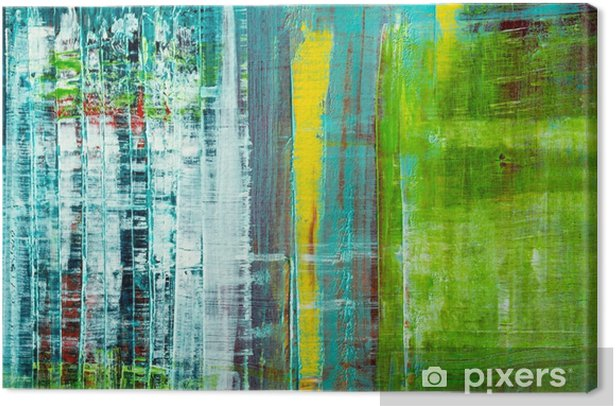 Abstract painted canvas. Oil paints on a palette. Canvas Print - Graphic Resources