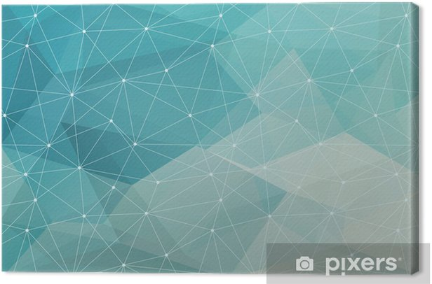 abstract polygonal background, vector Canvas Print -